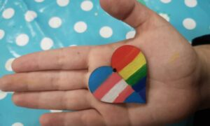 Trans & LGBT Pride Flags Heart